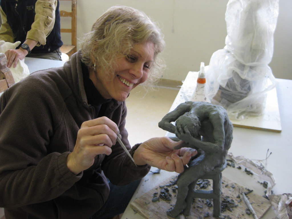 Rachel Stevens inspires her students in her figurative sculpture classes.